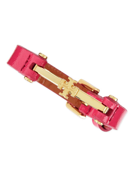 Penelope Logo Leather Bracelet, Bougainvillea Pink