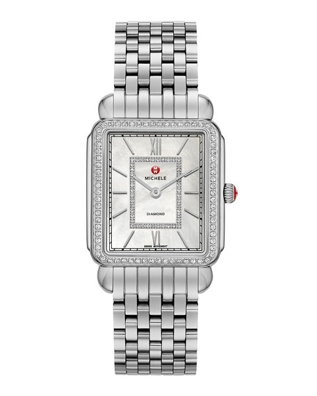 18mm Deco II Diamond Watch Head, Steel