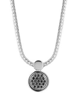 John Hardy Dot Lava Black Sapphire Pendant Necklace