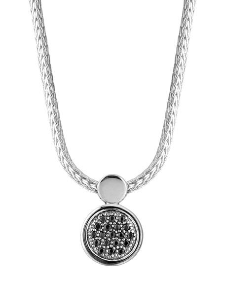 Dot Lava Black Sapphire Pendant Necklace