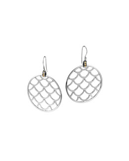 John Hardy Naga Gold & Silver Large Round Earrings