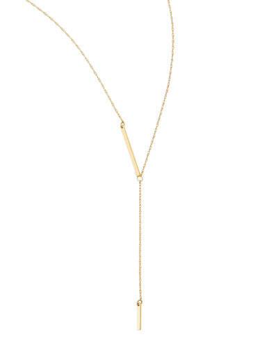 Jennifer Zeuner 18k Gold Vermeil Petra Lariat Necklace