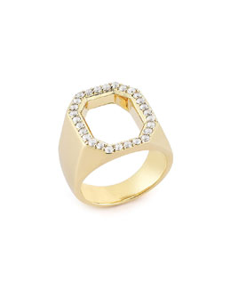 Elizabeth and James Eyre Ring with White Topaz