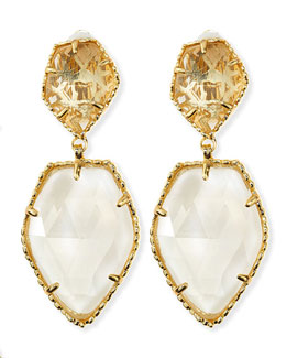 Kendra Scott Selma Faceted Clip-On Earrings, Crystal