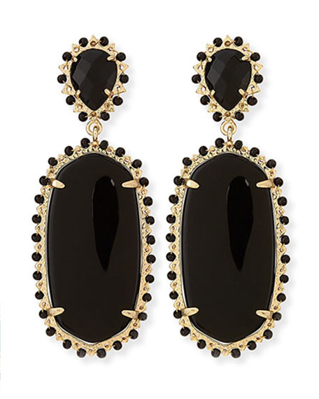 Parsons Clip-On Earrings, Black