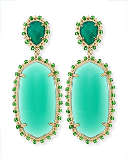 Kendra Scott Parsons Clip-On Earrings, Green