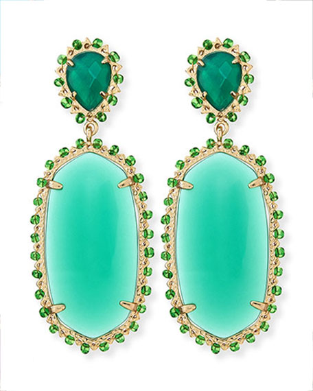 Parsons Clip-On Earrings, Green