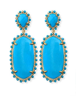 Kendra Scott Parsons Clip-On Earrings, Turquoise