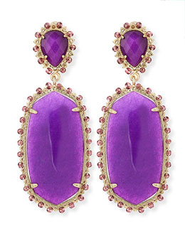 Kendra Scott Parsons Clip-On Earrings, Purple