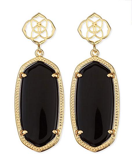 Kendra Scott Debbie Glass Drop Earrings, Black