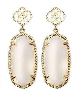 Kendra Scott Debbie Glass Drop Earrings, White