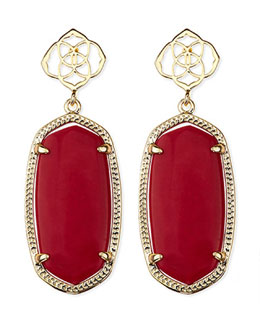 Kendra Scott Debbie Glass Drop Earrings, Red