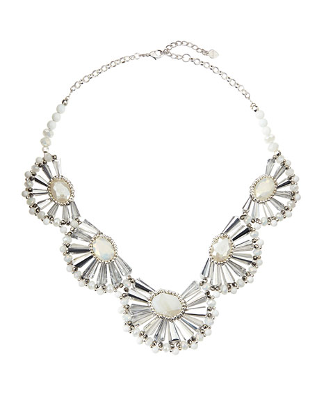 Half-Flower Statement Necklace