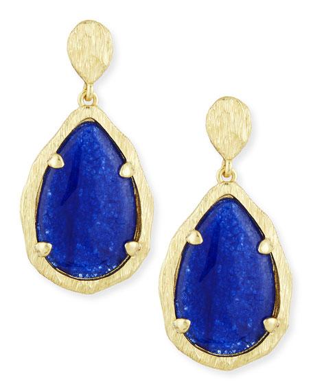 Teardrop Earrings, Blue