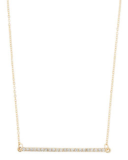 Panacea Golden Crystal Bar Station Necklace