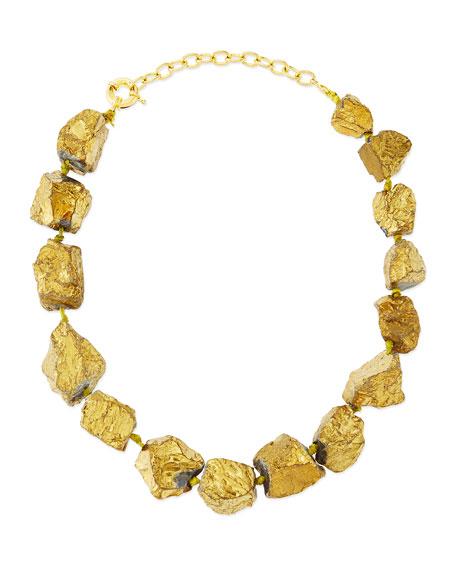 Panacea Golden Nugget Collar Necklace