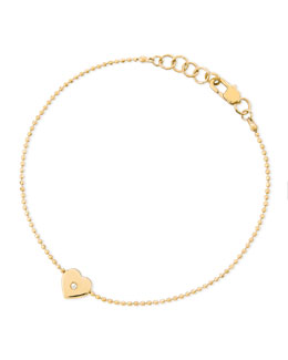 Michael Kors  Heart-Charm Bead Bracelet, Golden
