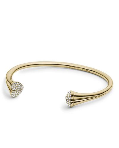 Michael Kors  Open Pave-Heart Cuff, Golden