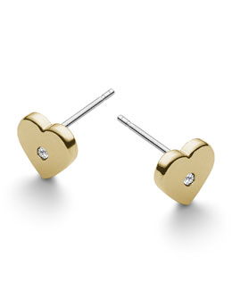 Michael Kors  Heart Stud Earrings, Golden