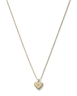 Michael Kors  Heart Charm Necklace, Golden