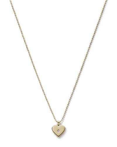 Michael Kors  Heart Charm Necklace, Golden