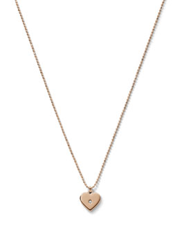 Michael Kors  Heart Charm Necklace, Rose Golden