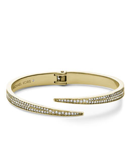 Michael Kors  Pave Hinge Open Cuff, Golden