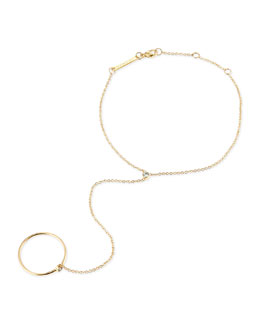 Zoe Chicco 14k Yellow Gold & Round Diamond Hand Chain