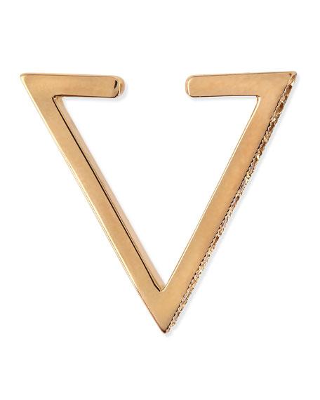 Pave Diamond Triangle Ear Cuff