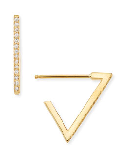 Zoe Chicco 14k Pave Diamond Triangle Earrings