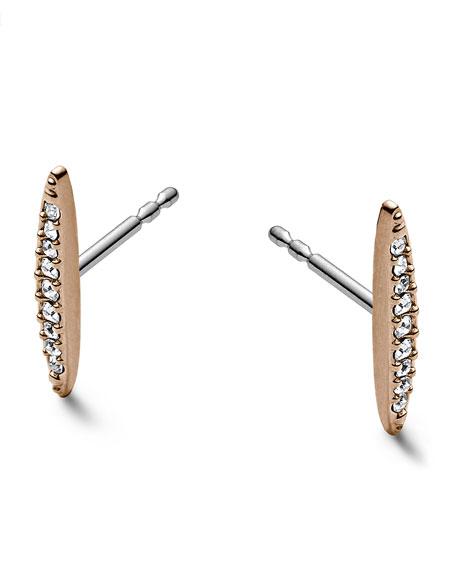 Matchstick Post Earrings, Rose Golden