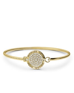 Michael Kors  Pave Logo Bracelet, Golden