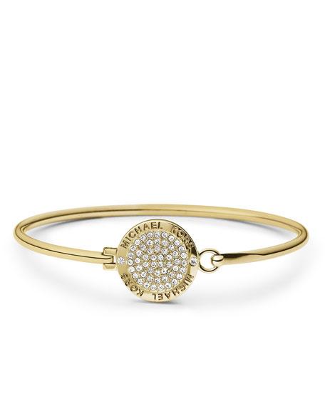 Pave Logo Bracelet, Golden