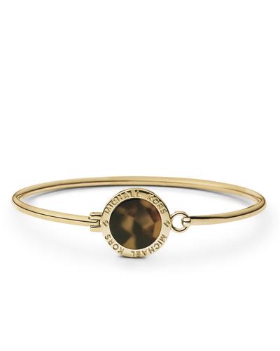 Michael Kors  Tortoise Logo Bracelet, Golden