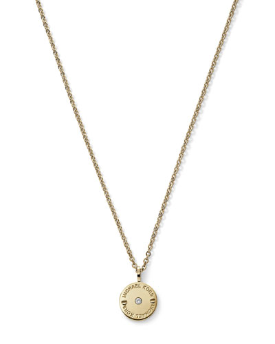 Michael Kors  Small Disc Necklace, Golden