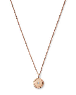 Michael Kors  Logo-Etch Disc Pendant, Rose Golden