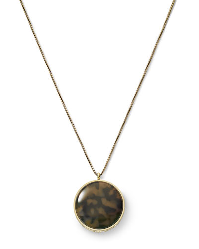 Michael Kors  Tortoise Disc Pendant Necklace, Golden