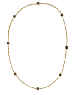 Michael Kors  Long Tortoise Station Necklace, Golden