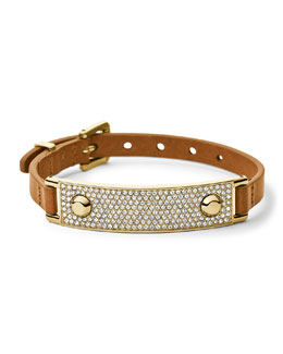 Michael Kors  Leather Wrap Bracelet, Golden