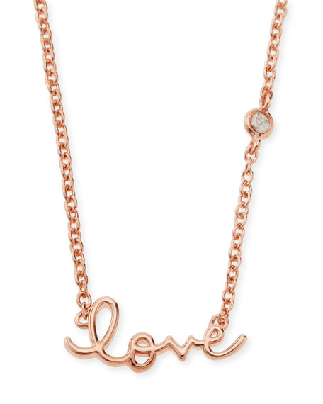 SHY by SE Rose Gold Love Pendant Bezel