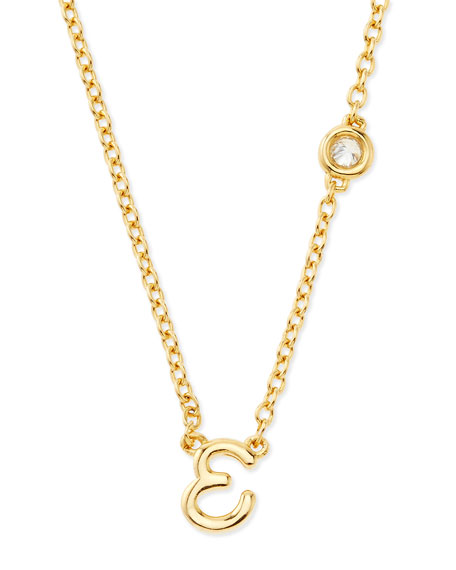 SHY by SE E Initial Pendant Necklace with