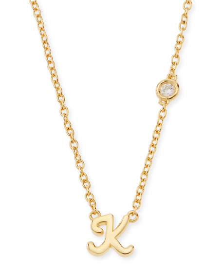 SHY by SE K Initial Pendant Necklace with
