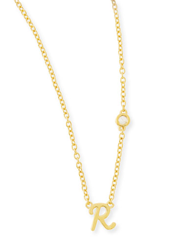 SHY by SE R Initial Pendant Necklace with
