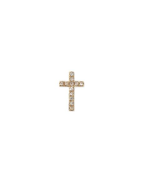 Sydney Evan 14k Gold Diamond Cross Single Stud