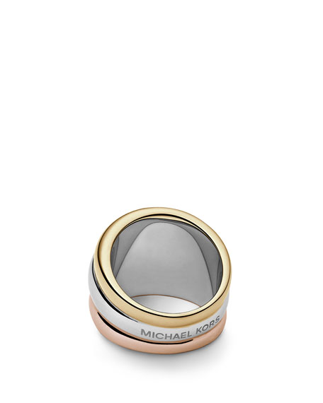 Tricolor Stacked Ring