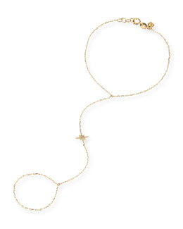 Sydney Evan 14k Diamond Starburst Hand Chain