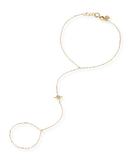 14k Diamond Starburst Hand Chain
