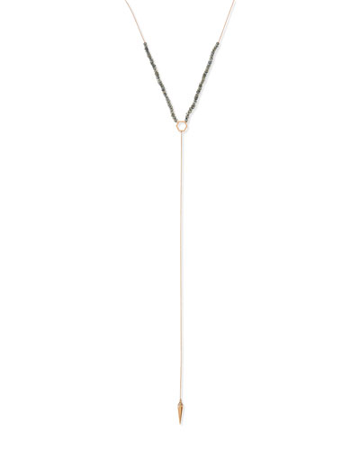 Sydney Evan Labradorite Spike Lariat Necklace