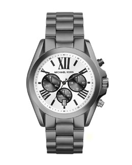Michael Kors  Mid-Size Gunmetal Stainless Steel Bradshaw Chronograph Watch