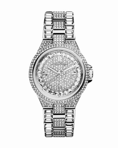 Michael Kors  Mini Silver Color Stainless Steel Camille Three-Hand Glitz Watch